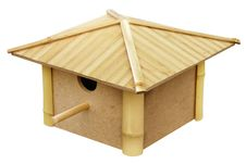 Free Birdhouse Made From Bamboo Royalty Free Stock Image - 19609706