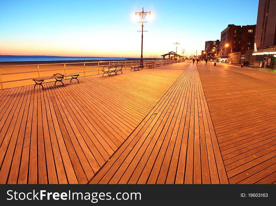 NY, evening in Brighton Beach
