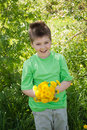 Free A Boy With A  Dandelions Royalty Free Stock Image - 19612656