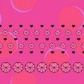 Free Vector Fuchsia Love Seamless Pattern Stock Photos - 19616403
