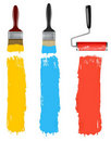 Free Set Of Colorful Paint Roller Brushes. Stock Images - 19618904
