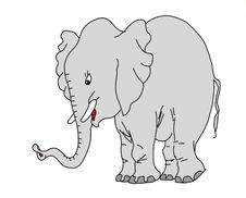 Free Vector Drawing Elephant Stock Image - 19610031