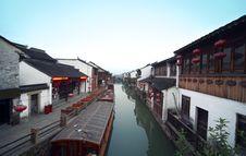Free Suzhou Canal Stock Photography - 19612052