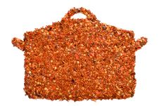 Free Paprika - Casserole Shape Stock Photos - 19612093