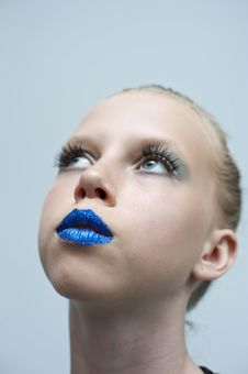 Free Beauty Blue Mouth Royalty Free Stock Image - 19612106