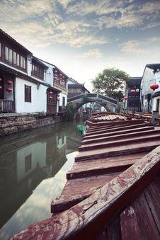 Free Suzhou Canal Royalty Free Stock Photo - 19612275