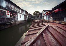 Free Suzhou Canal Royalty Free Stock Photos - 19612278