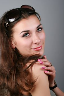 Free Close-up Portrait Brunette Girl Stock Photo - 19612400