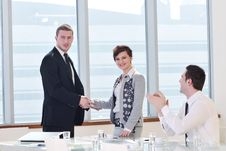 Free Group Of Business People At Meeting Royalty Free Stock Image - 19612536