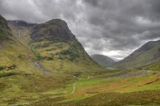 Free Glencoe In Storm Royalty Free Stock Photos - 19612978