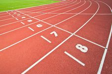 Free Abstract View Of Running Track Royalty Free Stock Photos - 19613038