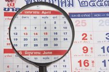 Free Magnify Zoom In Calendar Stock Photos - 19613483