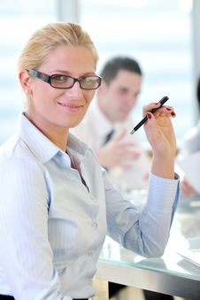 Free Young Business Woman On Meeting Stock Images - 19613514