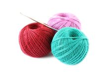 Free Colored Thread For Knitting Royalty Free Stock Photos - 19613548