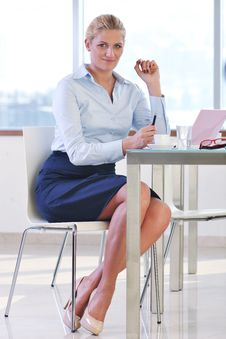 Free Young Business Woman On Meeting Royalty Free Stock Image - 19613796