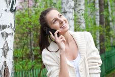 Free Woman Talking On Her Mobile Phone Stock Photos - 19615463