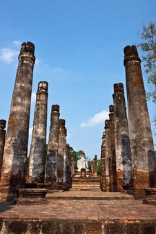 Free Sukhothai Historical Park In Northern Of Thailand Stock Images - 19615974