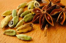 Free Anise And Cardamom Royalty Free Stock Photos - 19616298