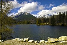 Free Lake In High Mountain Royalty Free Stock Photography - 19616367