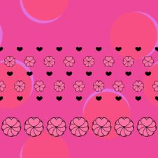 Vector Fuchsia Love Seamless Pattern Stock Photos