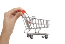 Free Shopping Cart On Hand Stock Images - 19616724