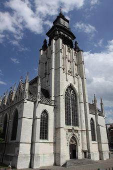 Free Late Gothic Church In Brussels Royalty Free Stock Image - 19616776