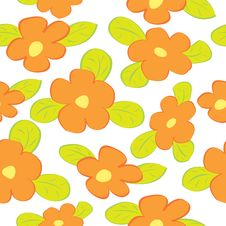 Free Seamless Floral Pattern Royalty Free Stock Images - 19616919