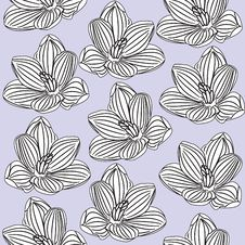 Free Seamless Floral Pattern Royalty Free Stock Images - 19617039