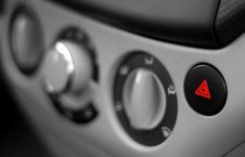 Free Red Emergency Button On A Dashboard Of Car Stock Image - 19617611