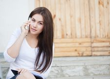 Free Girl Talking On A Mobile Phone Stock Image - 19617771