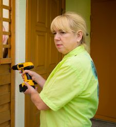 A Woman With A Screwdriver Stock Photos