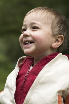 Free Little Boy Laughs In Park Royalty Free Stock Photos - 19618058