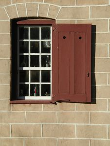 Free Colonial Window Detail Stock Image - 19618351