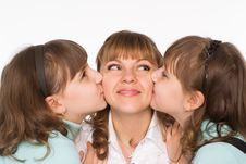 Free Mom With Her Daughters Stock Images - 19618414