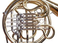 Free French Horn On White. Royalty Free Stock Image - 19618816