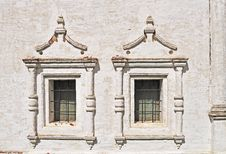 Free Two Vintage Windows In Ancient Monastery Royalty Free Stock Photos - 19618838