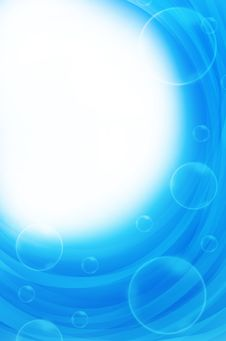 Blue Background With Circles Royalty Free Stock Photos