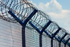 Free Razor Wire Above A Fence Stock Image - 19619601