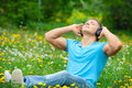 Free Man Listening To Music Outdoors Stock Photography - 19629322