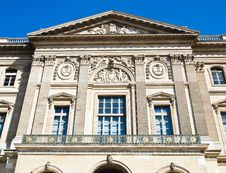 Back Side Of The Louvre Museum Paris, France Stock Photo