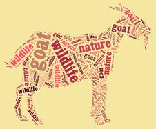 Wordcloud Of Goat Stock Images