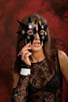 Free Black Star Mask Stock Photos - 19622783