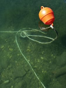 Free Lifebuoy In The Sea Or Lake Royalty Free Stock Image - 19623026