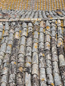 Free Raw Texture Of Roof Tiles Royalty Free Stock Images - 19623069