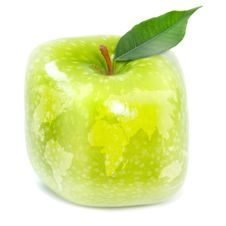 Free Green Apple And Map Stock Photos - 19623353