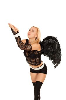 Free Black Angel Royalty Free Stock Image - 19623426