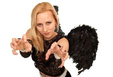 Free Black Angel Stock Photography - 19623472