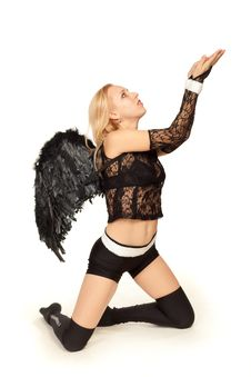 Free Black Angel Royalty Free Stock Photos - 19623478