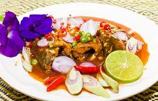 Free Thai Cuisine , Mackerel Fish1 Stock Images - 19623544