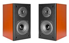 Free Two Wood Loud Speakers Royalty Free Stock Photo - 19623645